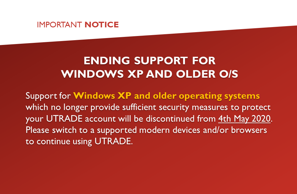 Ending Support for Windows XP and Older
