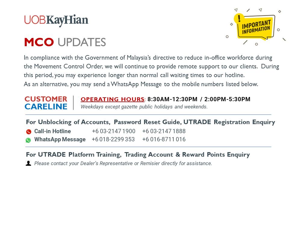 MCO Updates